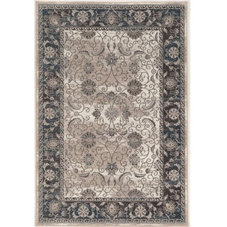 Vintage Collection Isfahan Ivory and Blue Rug (2' x 10')