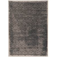 Vintage Collection Illusion Grey and Blue Rug (9' x 12')