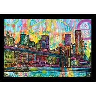 Brooklyn Bridge By Dean Russo Poster With Choice of Frame (24x36)