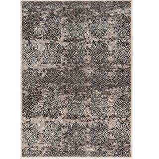 "Vintage Collection Clara Beige and Grey Rug (5' x 7'6"")"