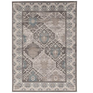Vintage Collection Belouch Grey and Blue Rug (2' x 3')