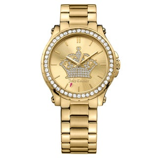 Juicy Couture Women's Hollywood Stainless Steel Yellow Gold Ion Plated Gold Japanese Quartz (Battery-Powered) Watch
