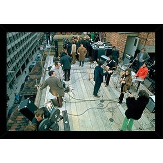 The Beatles Rooftop Poster With Choice of Frame (24x36)