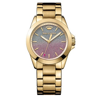 Juicy Couture Women's Malibu Stainless Steel Yellow Gold Ion Plated Japanese Quartz (Battery-Powered) Watch