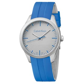 Calvin Klein Men's Color Silicone Silver Swiss Quartz (Battery-Powered) Watch|https://ak1.ostkcdn.com/images/products/16927749/P23218139.jpg?impolicy=medium