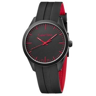 Calvin Klein Men's Color Silicone Black Swiss Quartz (Battery-Powered) Watch