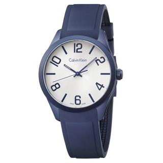 Calvin Klein Men's K5E51XV6 Color Silicone Silver Swiss Quartz (Battery-Powered) Watch