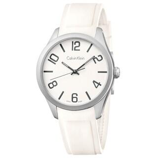 Calvin Klein Men's Color Silicone White Swiss Quartz (Battery-Powered) Watch