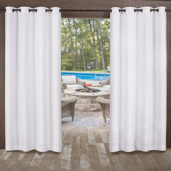 ATI Home Miami Indoor/Outdoor Grommet Top Curtain Panel Pair. Opens flyout.