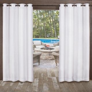 ATI Home Miami Indoor/Outdoor Textured Sheer Grommet Top Window Curtain Panel Pair