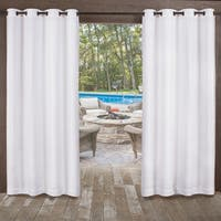 ATI Home Miami Indoor/Outdoor Sheer Grommet Top Curtain Panel Pair