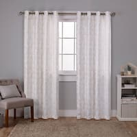 ATI Home Watford Metallic Blackout Grommet Top Curtain Panel Pair