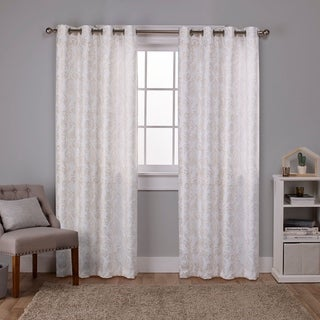 ATI Home Watford Metallic Blackout Grommet Top Curtain Panel Pair