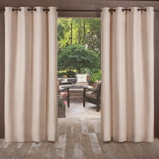Link to ATI Home Delano Indoor/Outdoor Grommet Top Curtain Panel Pair Similar Items in Outdoor Decor