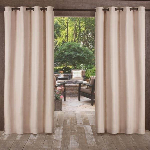 ATI Home Delano Indoor/Outdoor Grommet Top Curtain Panel Pair. Opens flyout.