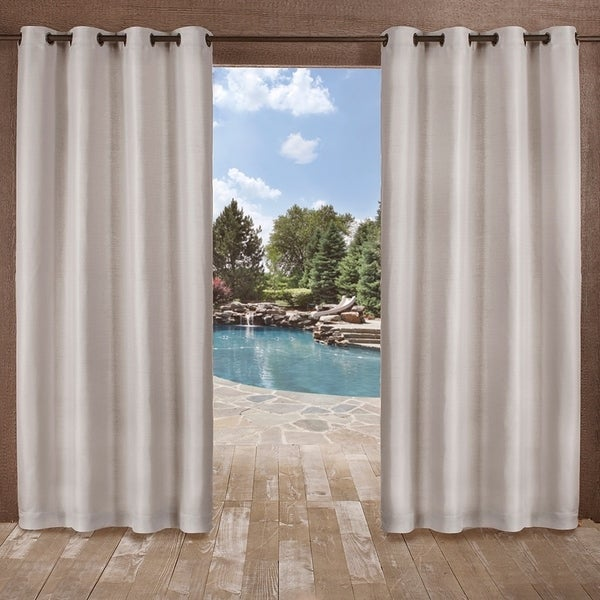 Shop Ati Home Delano Indoor Outdoor Grommet Top Curtain Panel Pair