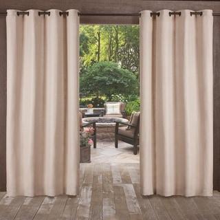 ATI Home Delano Indoor/Outdoor Heavy Textured Grommet Top Window Curtain Panel Pair