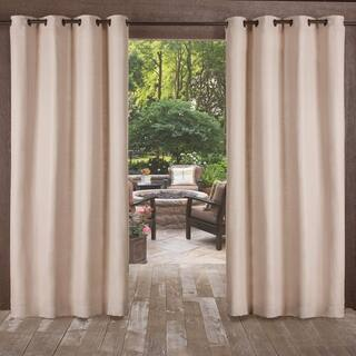 ATI Home Delano Indoor/Outdoor Heavy Textured Grommet Top Window Curtain Panel Pair|https://ak1.ostkcdn.com/images/products/16927774/P23218128.jpg?impolicy=medium