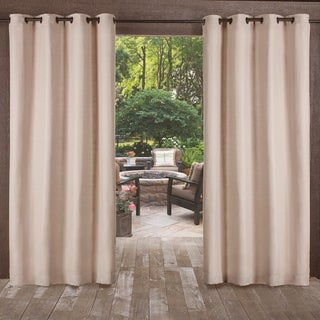 ATI Home Delano Indoor/Outdoor Grommet Top Curtain Panel Pair (More options available)