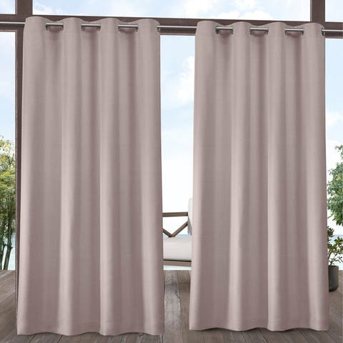 ATI Home Biscayne Indoor/Outdoor Grommet Top Curtain Panel Pair