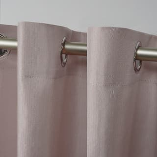 ATI Home Biscayne Indoor/Outdoor Two Tone Textured Grommet Top Window Curtain Panel Pair|https://ak1.ostkcdn.com/images/products/16927775/P23218129.jpg?impolicy=medium