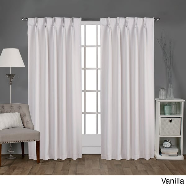 Ati Home Sateen Pinch Pleat Woven Blackout Back Tab Curtain Panel Pair Free Shipping On Orders