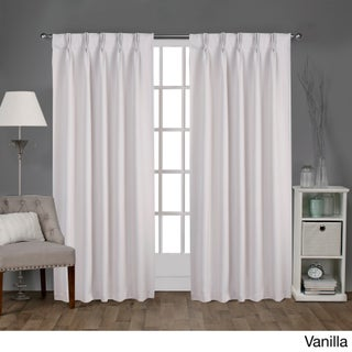 ATI Home Sateen Woven Blackout Curtain Panel Pair with Pinch Pleat Top (More options available)