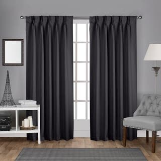 ATI Home Sateen Pinch Pleat Woven Blackout Back Tab Curtain Panel Pair|https://ak1.ostkcdn.com/images/products/16927777/P23218131.jpg?impolicy=medium