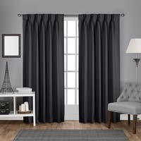 ATI Home Sateen Woven Blackout Curtain Panel Pair with Pinch Pleat Top