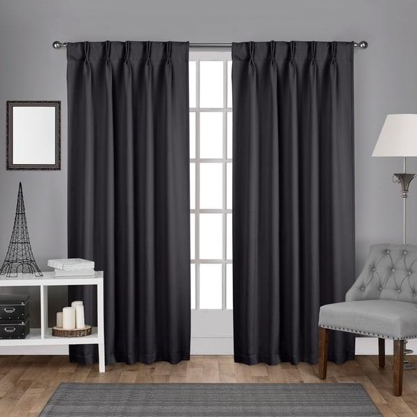 Porch & Den Bolling Sateen Woven Blackout Curtain Panel Pair. Opens flyout.