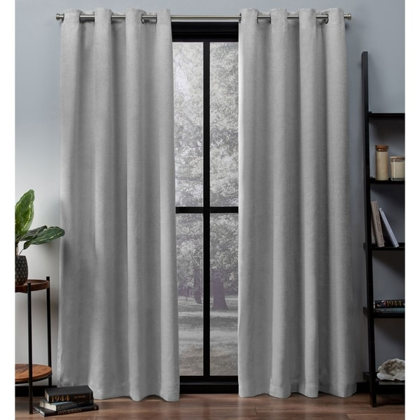 ATI Home Oxford Sateen Woven Blackout Grommet Top Curtain Panel Pair. Opens flyout.