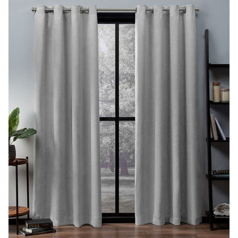 ATI Home Oxford Sateen Woven Blackout Curtain Panel Pair