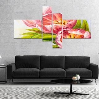 Designart 'Tulips Flowers' Floral Art Canvas Print
