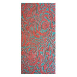 The Rug Market Lotus Teal Area Rug (8' x 10')