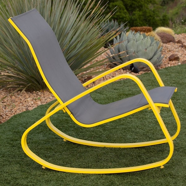 Eero Aluminum Sling Seat Patio Porch Deck Rocking Chair