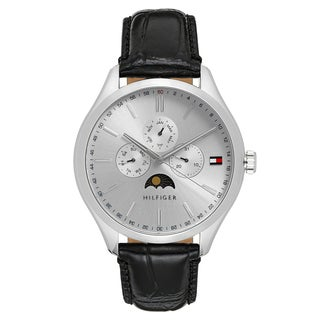 Tommy Hilfiger Men's Oliver Leather Silver Japanese Quartz (Battery-Powered) Watch|https://ak1.ostkcdn.com/images/products/16928127/P23218469.jpg?_ostk_perf_=percv&impolicy=medium