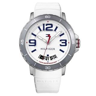 Tommy Hilfiger Men's Trevor Silicone White Quartz (Battery-Powered) Watch (Option: White)