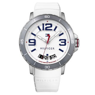 Tommy Hilfiger Men's Trevor Silicone White Quartz (Battery-Powered) Watch