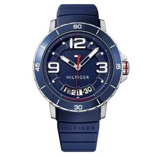 Tommy Hilfiger Men's Trevor Silicone Navy Quartz (Battery-Powered) Watch