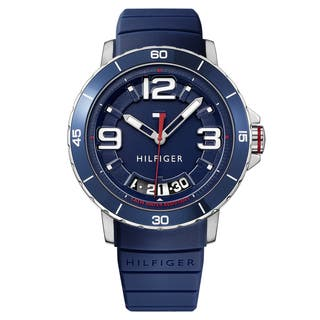 Tommy Hilfiger Men's Trevor Silicone Navy Quartz (Battery-Powered) Watch|https://ak1.ostkcdn.com/images/products/16928156/P23218675.jpg?impolicy=medium