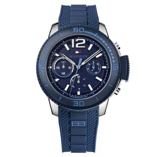 Tommy Hilfiger Men's Wyatt Silicone Navy Japanese Quartz (Battery-Powered) Watch|https://ak1.ostkcdn.com/images/products/16928160/P23218677.jpg?impolicy=medium