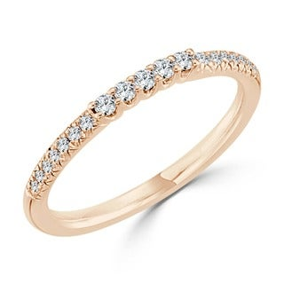 Auriya 10K Gold 1/6ct TDW Diamond Wedding Band