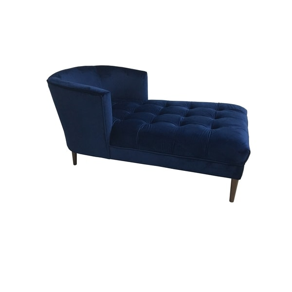 Hayden chaise lounge navy mistral velvet free shipping for Black friday chaise longue