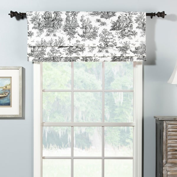 overstock roman shades grey jamestown faux roman shade valance shop free shipping on orders