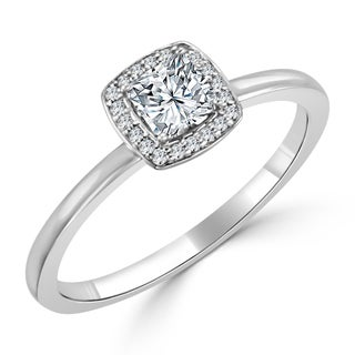 Auriya 10K Gold 1/3ct TDW Prong Diamond Engagement Ring