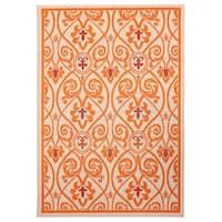 Hermosa Orange Indoor/ Outdoor Oriental Rug (5'3 x 7'6)