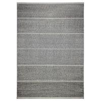 Alfresco Stripe Dark Grey Indoor/ Outdoor Rug (5'3 x 7'6)