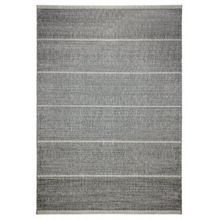 Alfresco Stripe Dark Grey Indoor/ Outdoor Rug (5'3 x 7'6)
