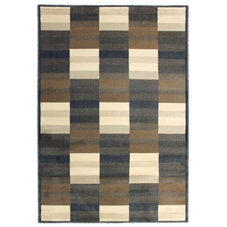 Inspiration Squares Dark Grey Area Rug (5'3 x 7'5)
