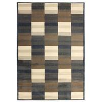 Inspiration Squares Dark Grey Area Rug (5'3 x 7'5)